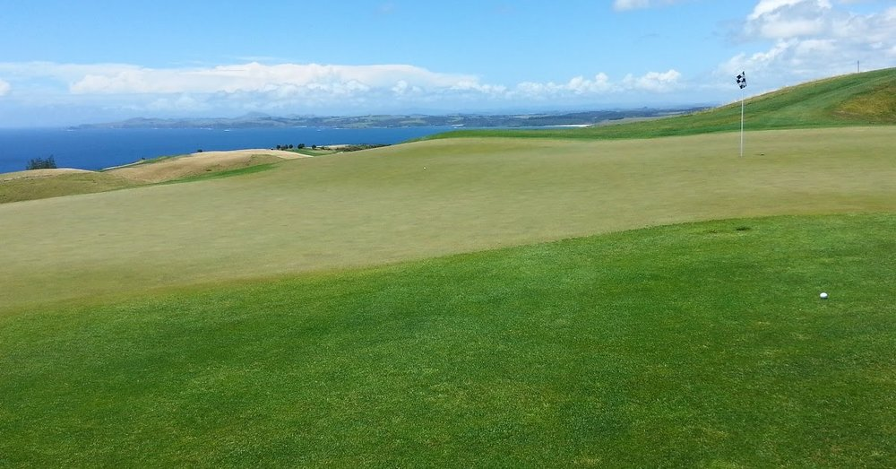Admire the view  - at Kauri Cliffs, New Zealand's premier golf destination.