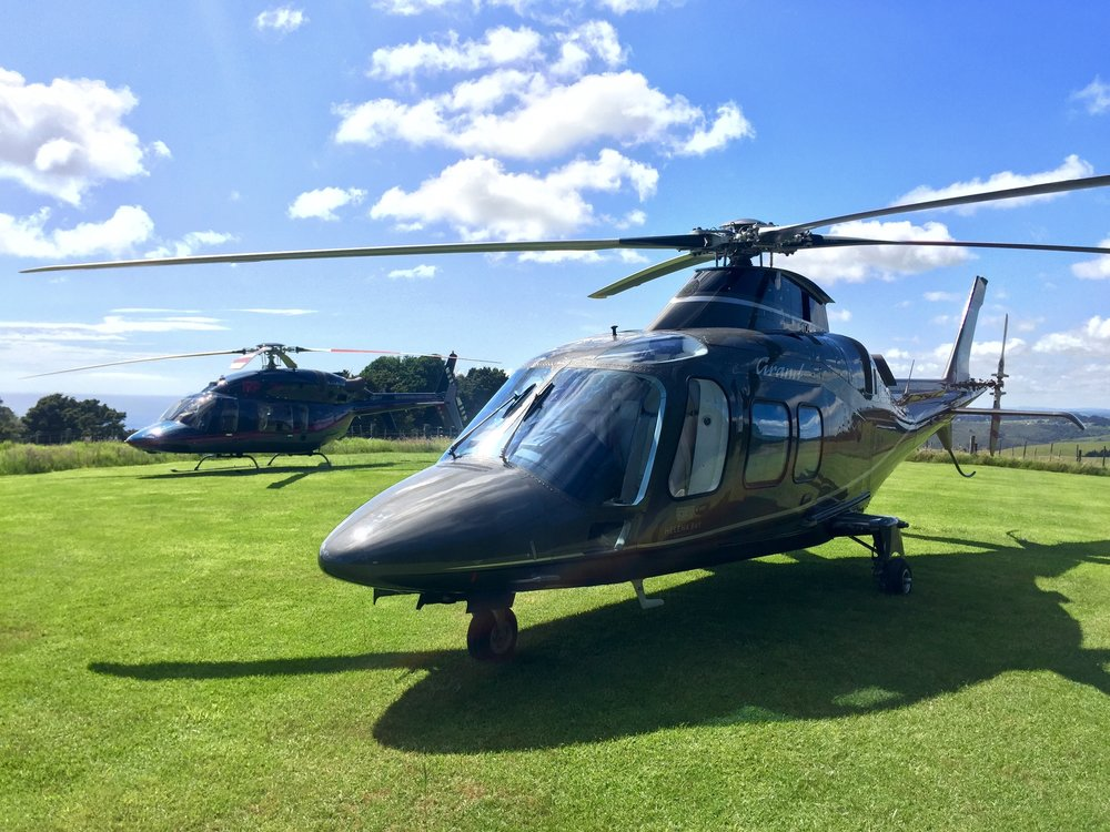 Fly to Kauri Cliffs in a helicopter!