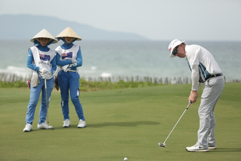 International golfer Competing at the  VIETNAM WORLD MASTERS