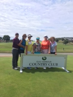 Benbow Group from Perth enjoying their round at Gulf Harbour