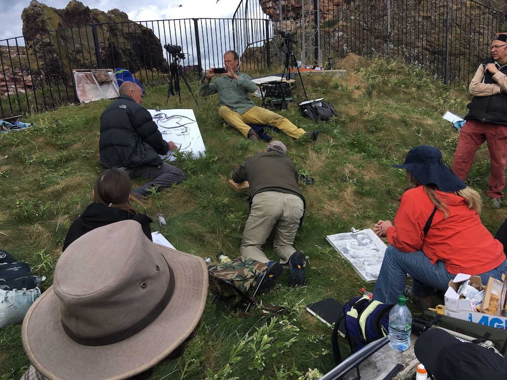 Tutor, Greg Poole, teaching on anatomy at Dunbar Harbour.