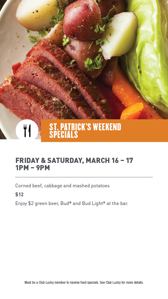 St Patricks Weekend Specials Lucky Dog Casino Gaming And