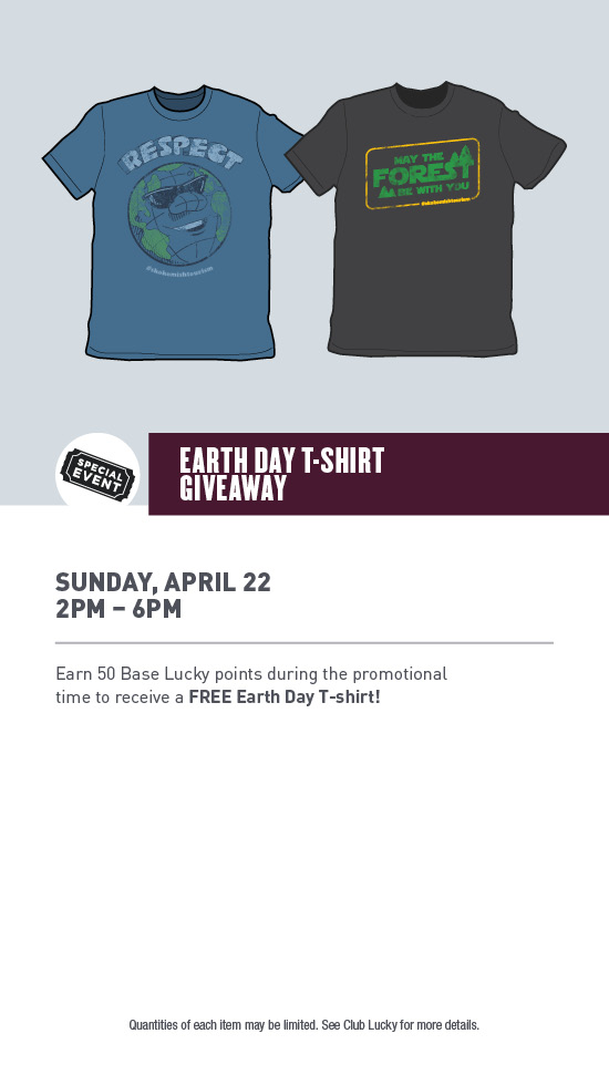 b2dca116f Earth Day T-Shirt Giveaway — Lucky Dog Casino | Gaming and Dining in  Skokomish, Washington | Hood Canal, Lake Cushman
