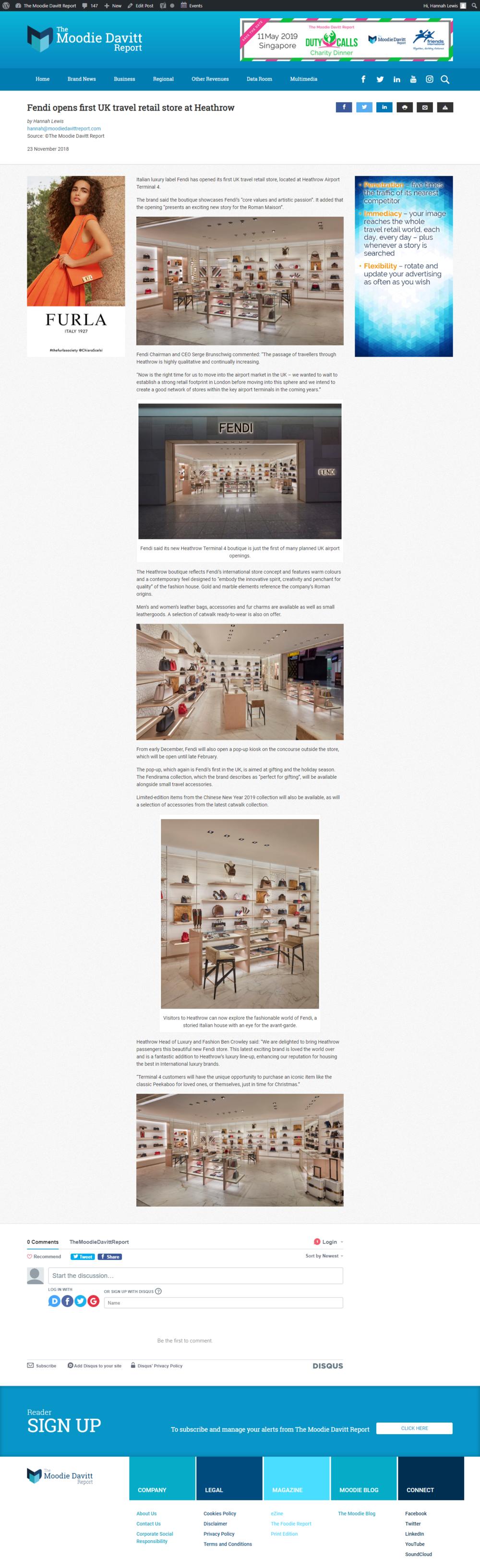 dbb370d0df25 Fendi opens first UK travel retail store at Heathrow — Hannah Lewis