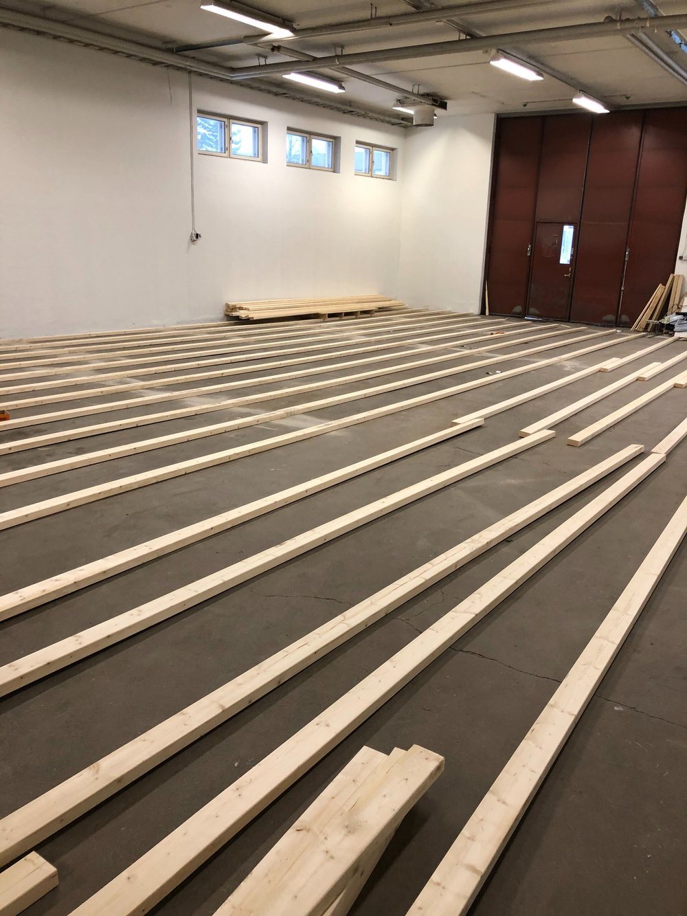 Raised floor being built, this is going to be awesome!
