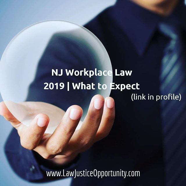 Pleased to share our 2019 trend alert for Employment Law in NJ (link in profile). LEGAL DISCLAIMER: While the insights contained herein are real, crystal balls are fake. So are magic 8 balls.  #business #lawyer #montclairnj #employment #law #montclair #nonprofit #smallbusiness #legal #smallbiz #shopsmall #humanresources #employmentlaw #laborlaw #union #labor #businesslaw #compliance #hr #lawyerlife #sales #logo #marketing #communication #recruitment #advertising #attorney #workplace #employers