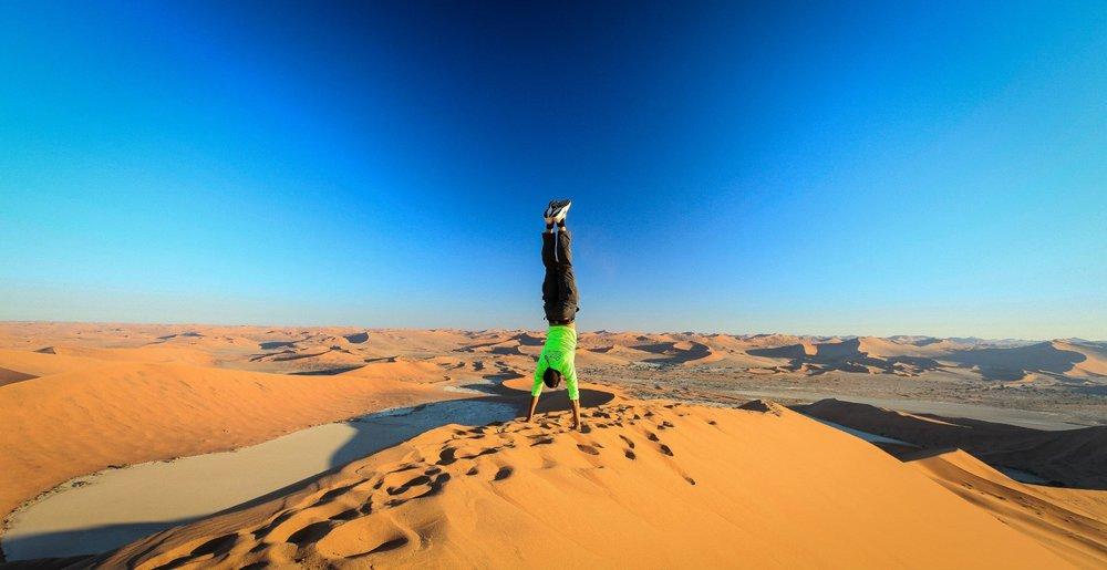 Dude is definitely an  Almond Eater . Photo taken in the Namibian desert.