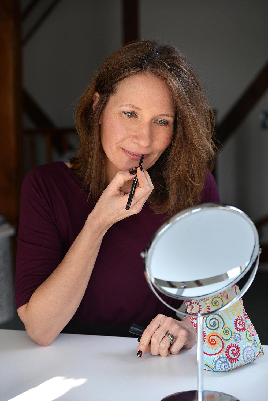 Jane Mather, make-up artist. natural enhancing make-up look