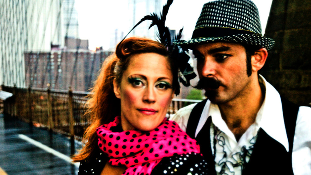 Filming our final sequence on the Brooklyn Bridge 2013,  Photo by Kirsten D'Andrea Hollander
