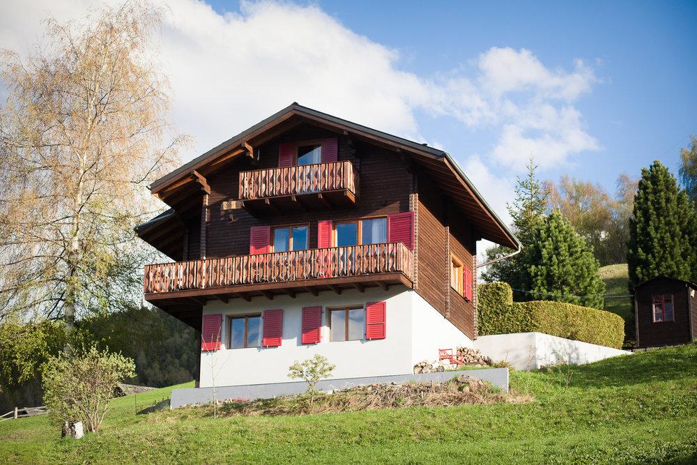 Modern Zwitsers Chalet : Chalet in zwitserland