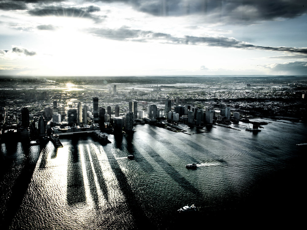 """Hudson Shadows""  Photographed by Ron Foster in New York City"