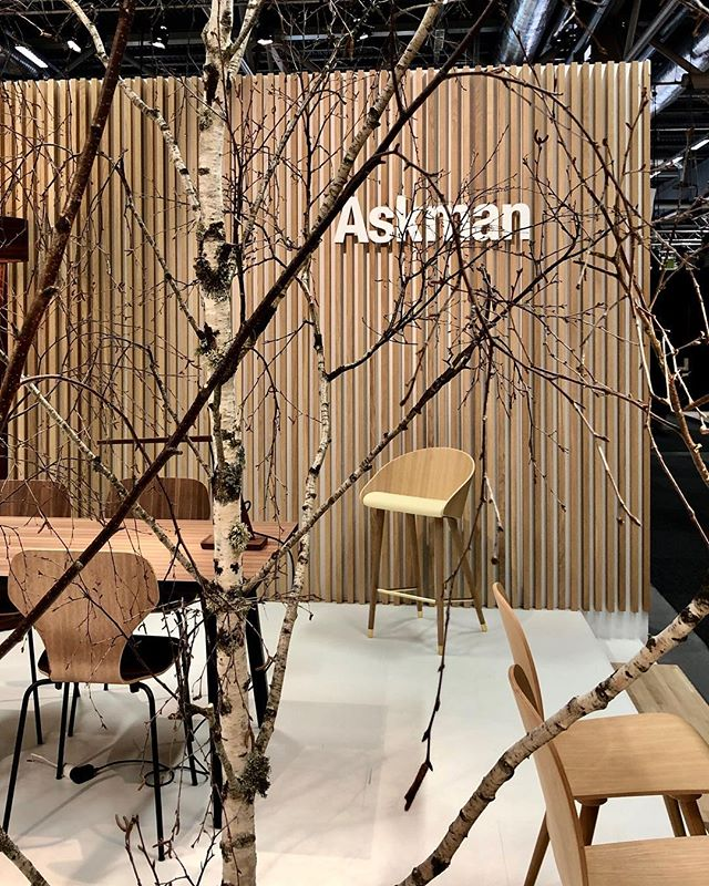 Askman Design X Evaristti ✨ #askmandesign #marcoevaristti #furnituredesign #stockholmfurniturefair #danishdesign #newcooperation #eros #barchair