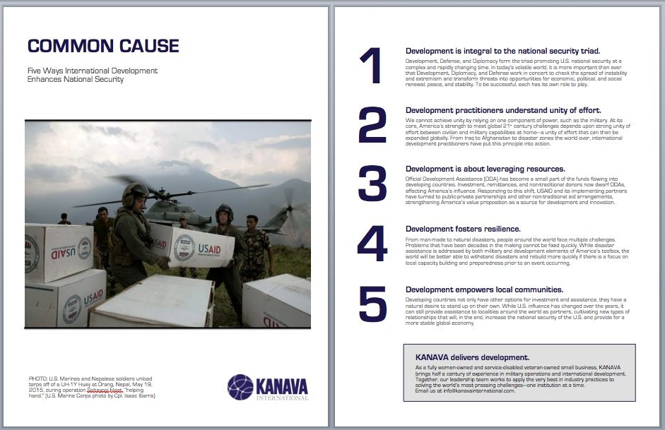 "KANAVA's contribution to the ""Thought Leadership Compendium,"" a publication of the Professional Services Council (PSC) as part of its annual development conference."