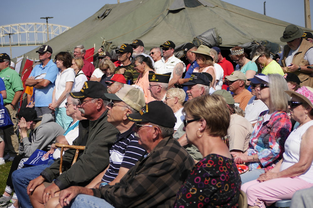 Participants in the KANAVA-sponsored 2016 Vietnam Veterans Commemoration held in Sault Ste. Marie, Michigan.