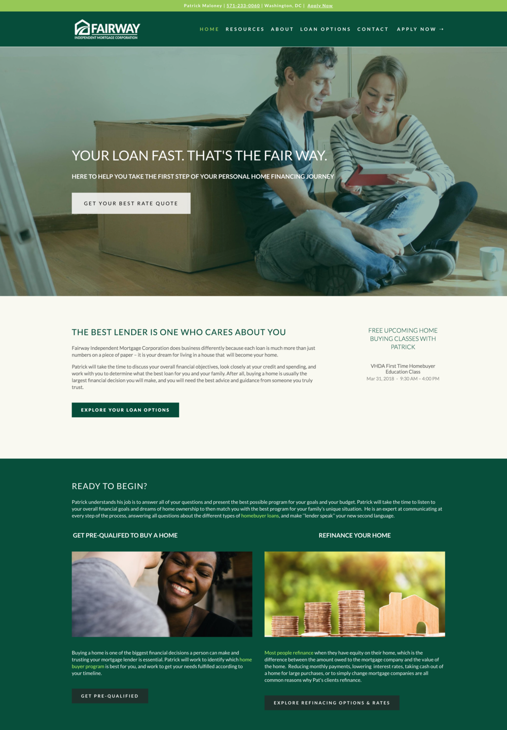 Mortgage Lender Website Design Washington DC