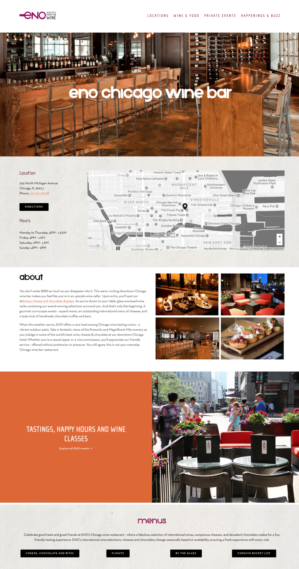 Wine Bar and Restaurant Website Builds Washington DC