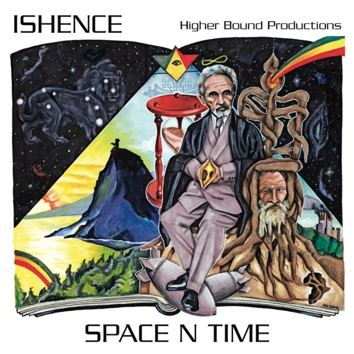 "Album:  Space N Time   Artist:  Ishence   Graphic Design:  True Love (www.Fikir-studios.com)   Additional Details:  http://www.higherboundprod.com/    Credit:  Ryan ""Ishence"" Willard"