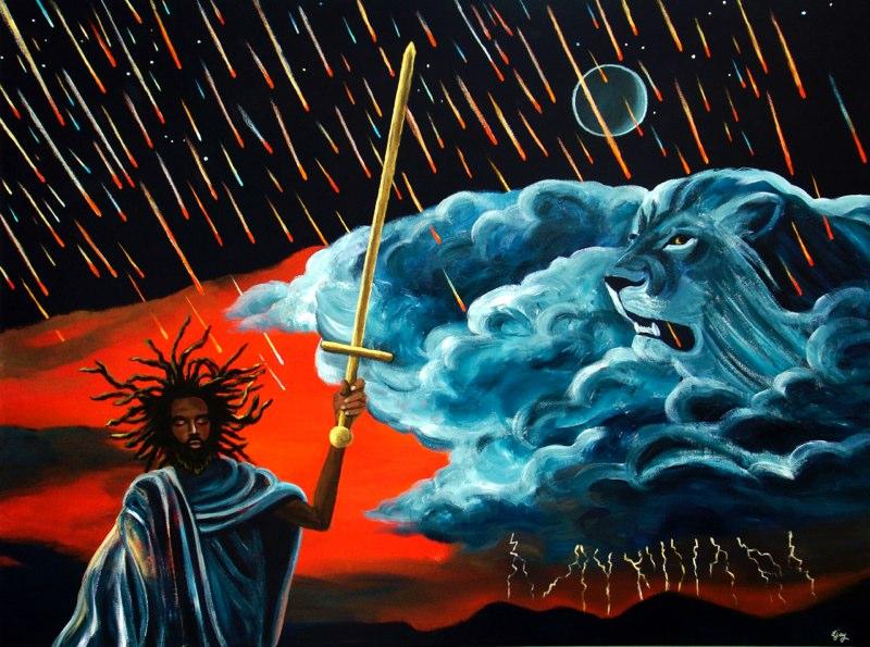 Artist:  Ejay Khan   Title: Conquering Lion (2007)   Source: http://www.khanstudiointernational.com