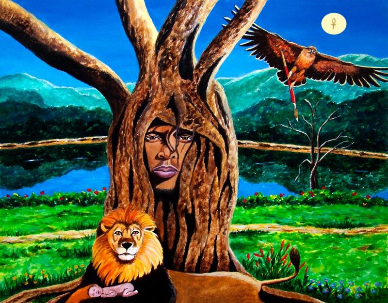 Artist:  Ejay Khan   Title: Free to Soar (1998)   Source: http://www.khanstudiointernational.com