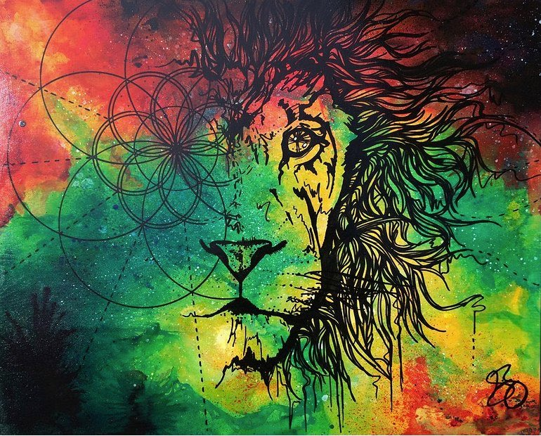 Artist:  Selina Zontos   Title: Rasta Lion (n.d.)   Source: http://www.skavengeart.com/#!Ratsa-LIon/zoom/c50z/image19za