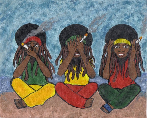 Artist:  Unknown Artist   Title:  3 Rasta (2008)   Source:  http://oneelove.deviantart.com/art/3-Rasta-97639072