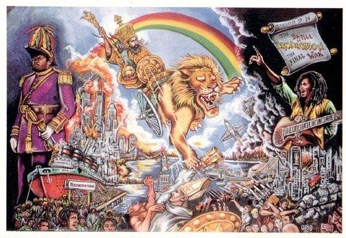 Artist:  Opio Chung   Title: Rastafari Conquering Lion of Judah (2008)   Source: https://www.flickr.com/photos/32357038@N08/3142809403/