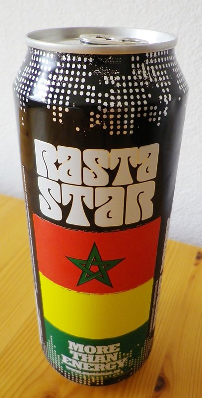 Rasta Star Energy Drink   Photo: http://nerdathlon.blogspot.com/2011/07/rasta-star-energy-drink.html  Accessed Spring 2013