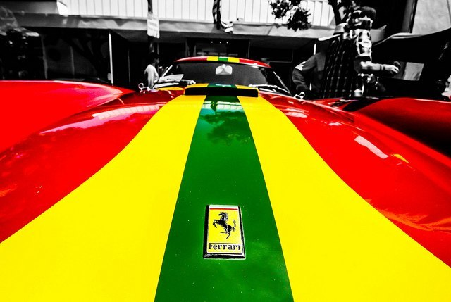 Rasta-Ferrari   Photo: http://www.flickr.com/photos/kevindahlgren/7184903225/  Accessed Spring 2013