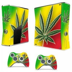 Xbox 360   Photo: http://stickers-deco-consoles.fr/skin-stickers-xbox-slim-/58-xbox-360-slim-rasta.html  Accessed Spring 2013