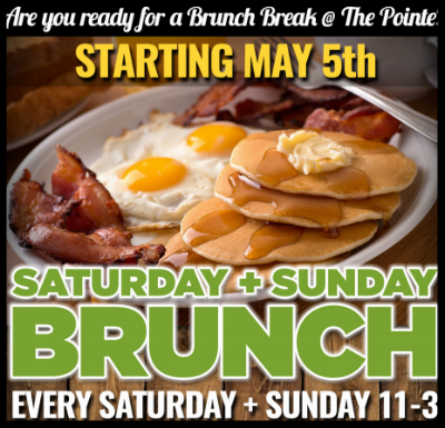 WEEKENDS.... - Every Saturday - Sunday 11-3 (Starting May 5th) . Are you ready for a Brunch Break @The Pointe? It's all your favorites every Saturday -Sunday. Daily Specials + Of Course The Perfect Cocktails!Reserve a Table Today: CALL: 302-856-6283 or EMAIL: Events@mulliganspointe.com