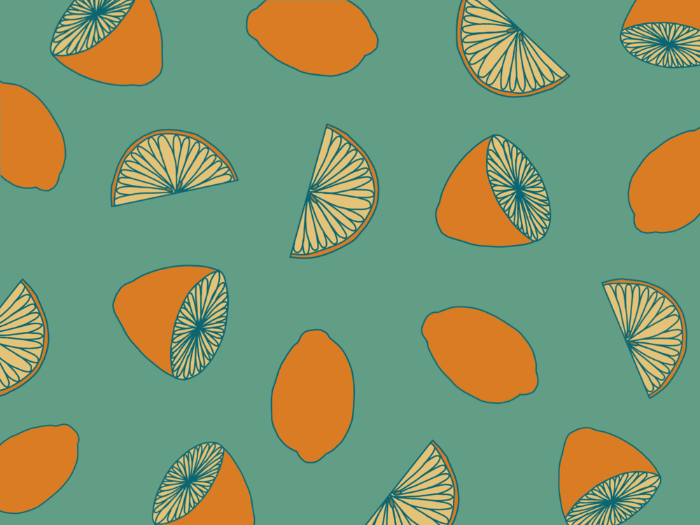 Illustration of lemons wallpaper