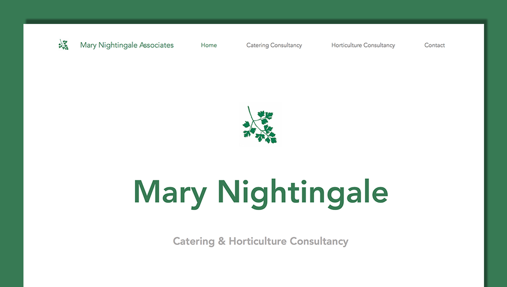 Mary Nightingale Associates website design