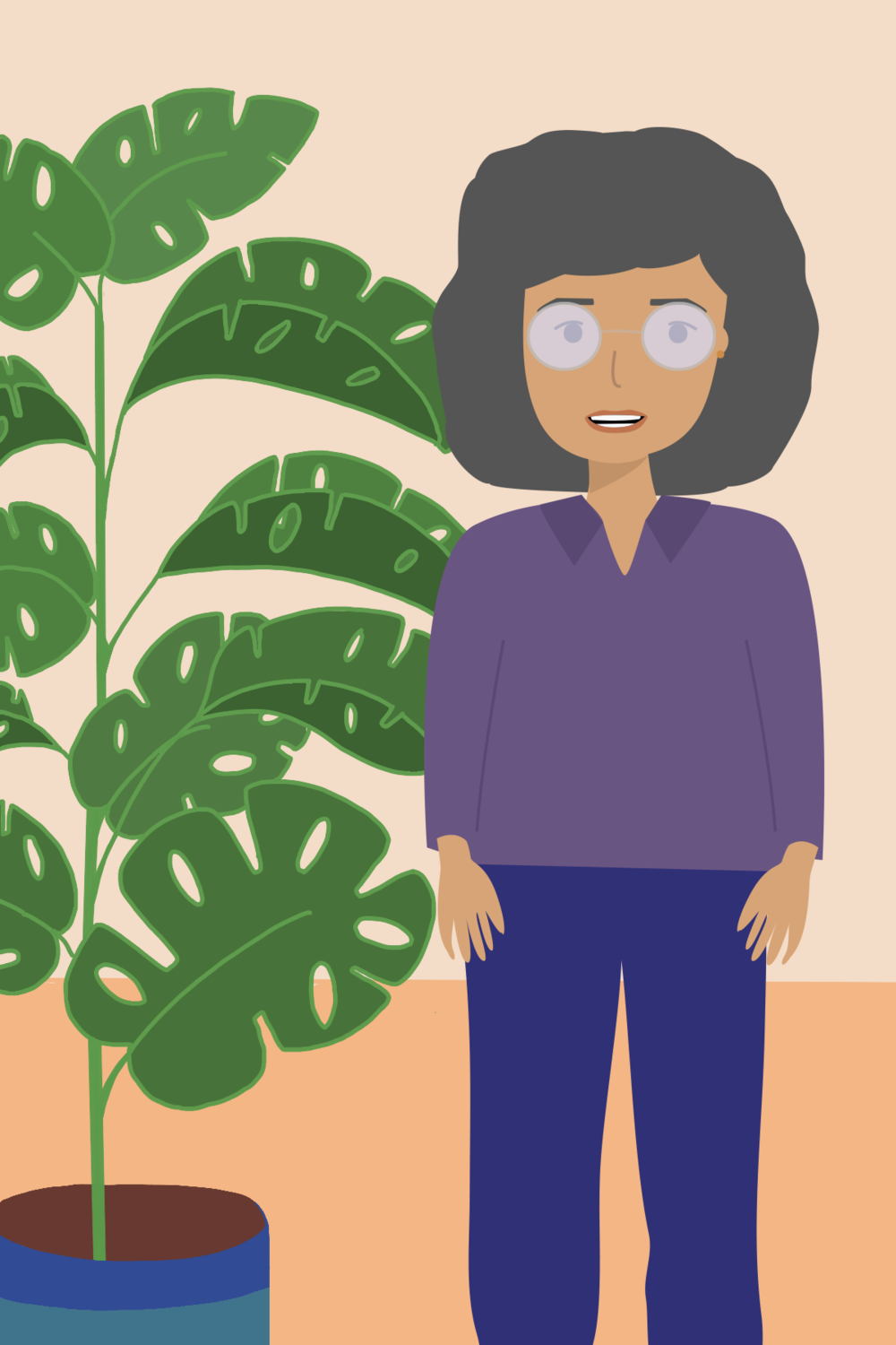 Cheese plant and woman.png
