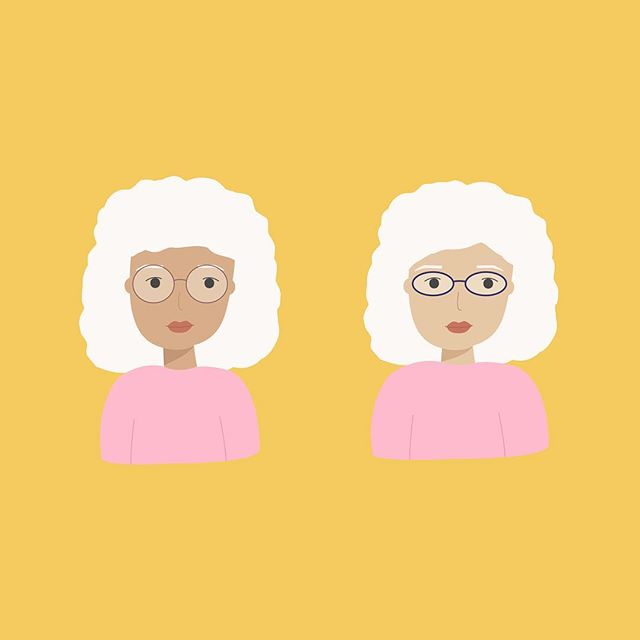 A lot of my work involves drawing people which means I have hundreds of versions of made up faces 👶🏼🙋🏻‍♀️