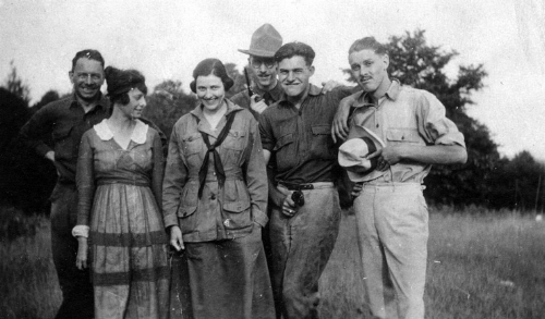 Photo of Ernest Hemingway, his sister and friends circa summer 1920 via  Wikicommons