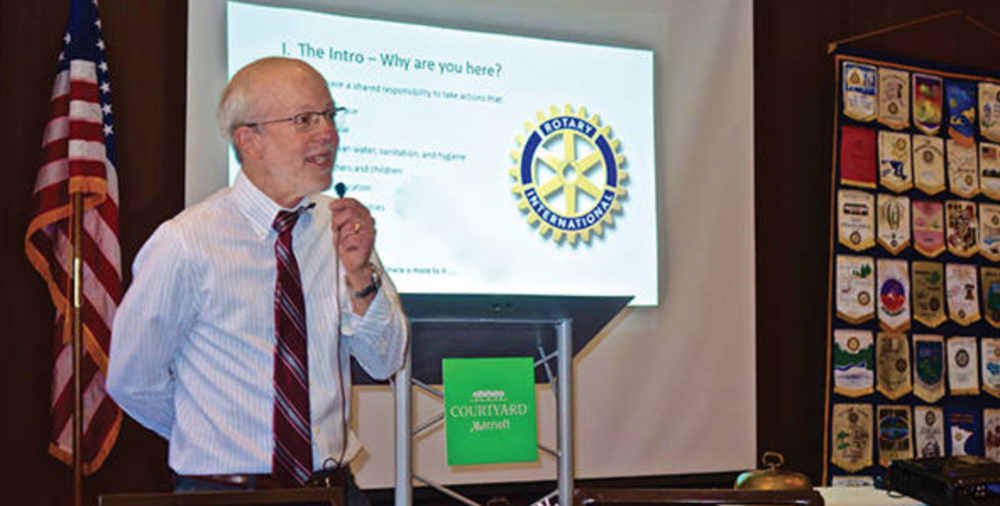 Science professor, Henry Jakubowski, at a Rotary Club in Minnesota. Click on the picture to read his story.