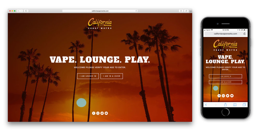 Web Design for California Vapor Works - Responsive Desktop and Mobile Design