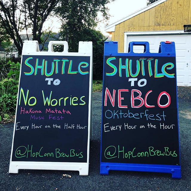 Keep your eyes peeled for these masterpieces tomorrow! Free Shuttle between @noworriesbeer Hakuna Matata Music Fest and @newenglandbrewing Oktoberfest. Going to be a swell time! #ctbeertrail #drinklocal #ctbeer #hopconn