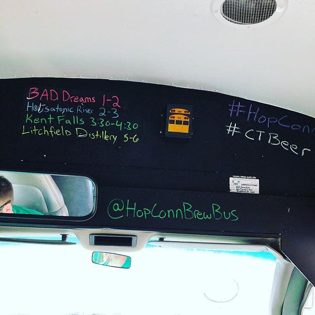 Today's agenda 🚌🍻🚌🍻🚌🍻🚌🥃🚌 #hopconn #ctbeertrail #ctbeer #drinklocal