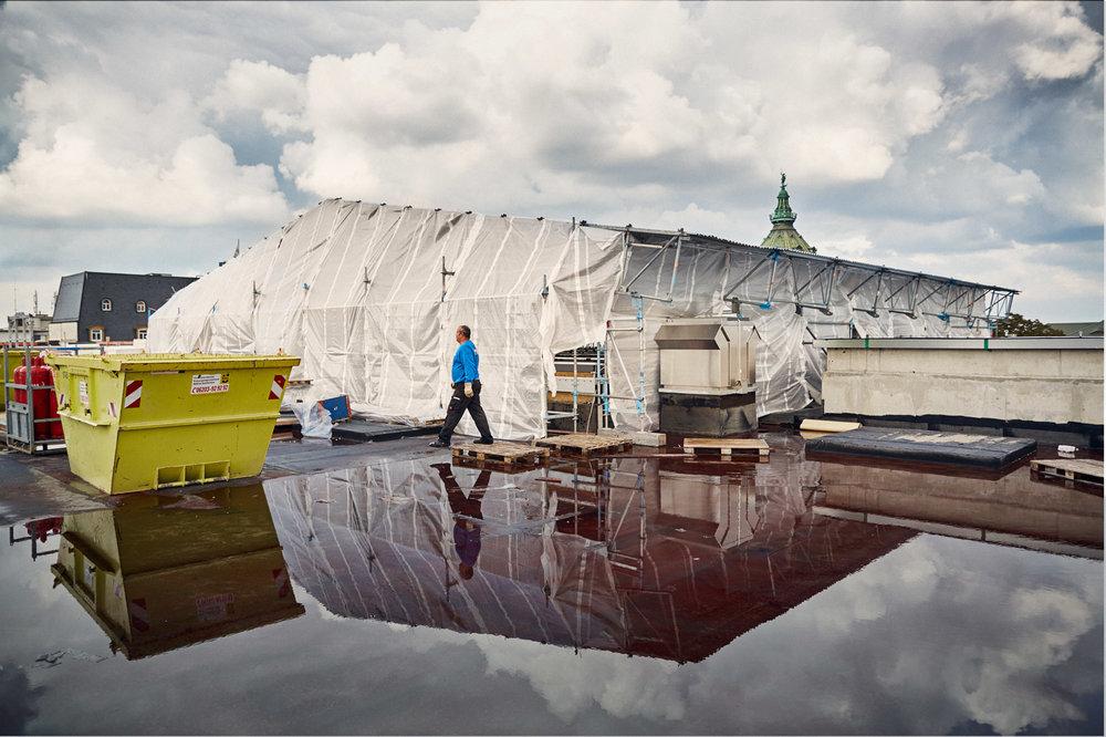 Dach, Aufbau über dem Atrium  2016–10–11