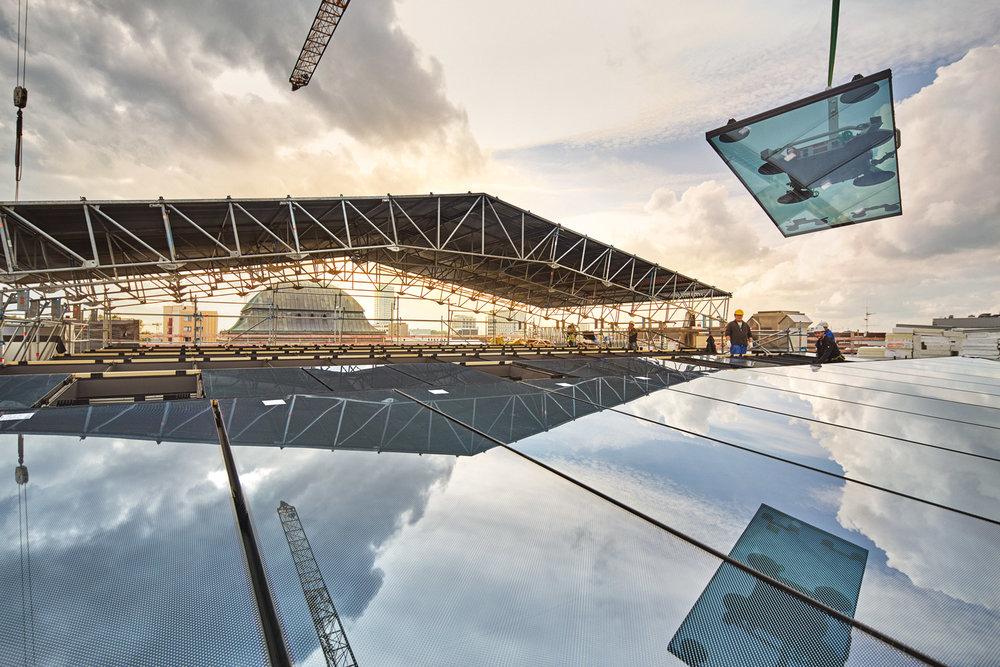 Glasdach über dem Atrium  2016–08-18