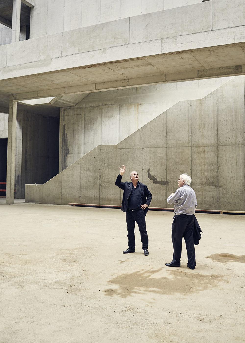 Nikolaus Goetze und Meinhard von Gerkan,gmp – Architekten, am Tag des Richtfestes 1. Juli 2016