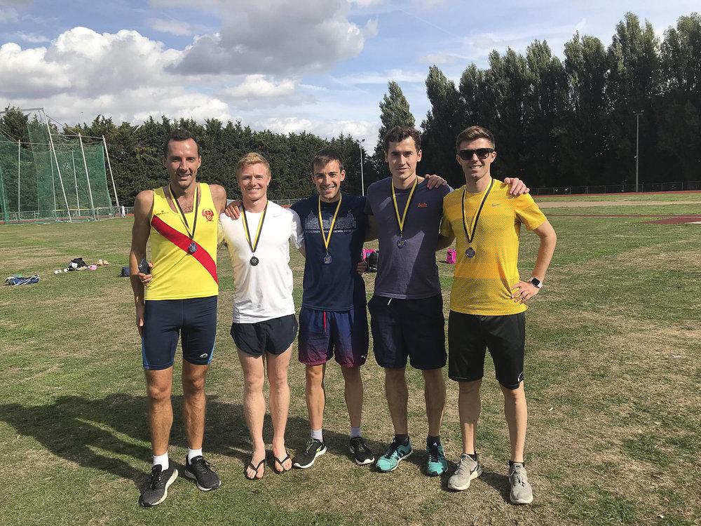 Road relay silver medallists.JPG