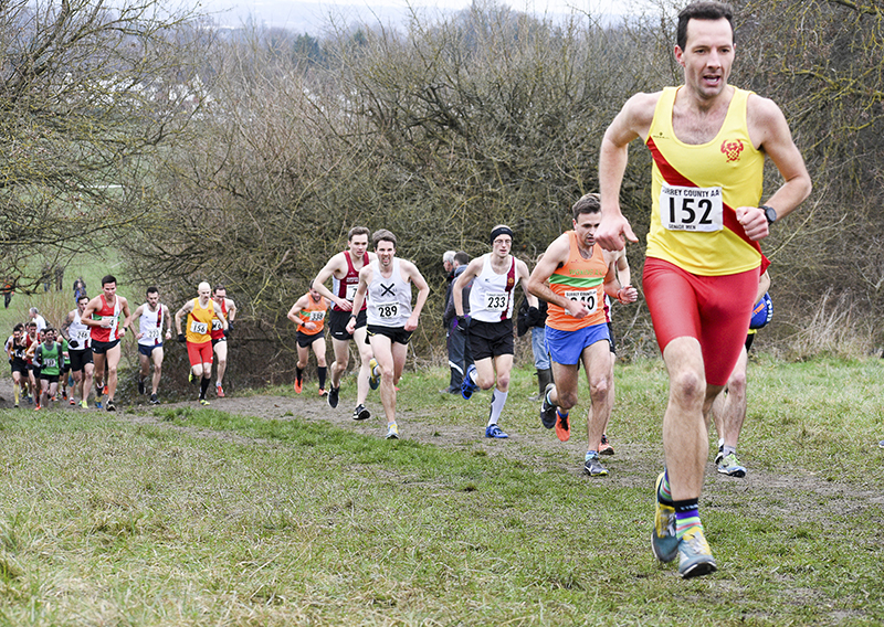 First man for HW, Finn Johnson, forging on at the County Championships. Photograph by Nigel Bramley