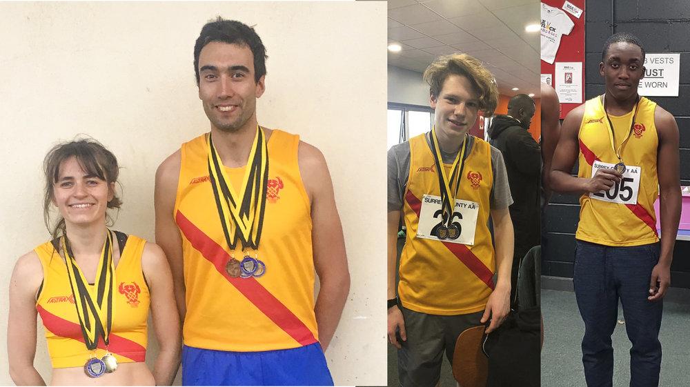 Surrey Indoor medallists gold.jpg