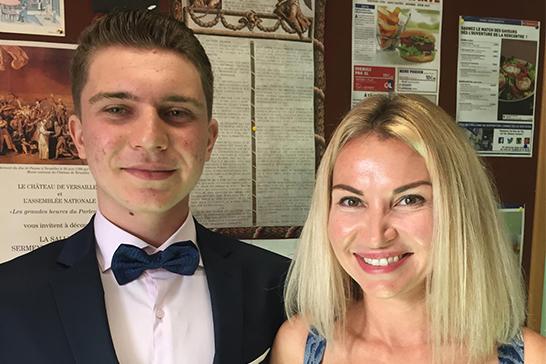 Alexandr and Mum at Sutton Park Graduation