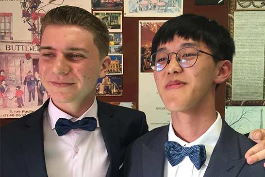 Alex and Zhiyuan at Sutton Park Graduation 2018