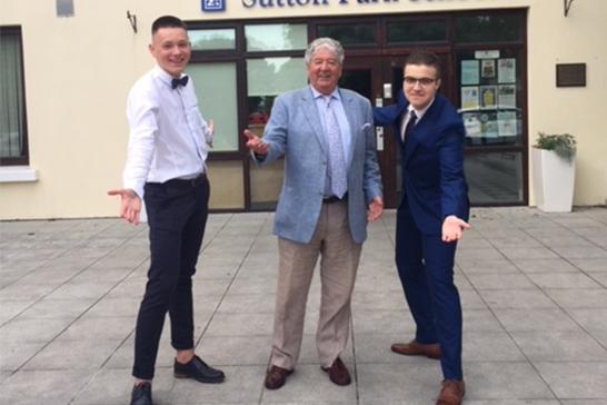 Larry with Pavlo Kubov and Anjei Lembovich at Graduation 2018