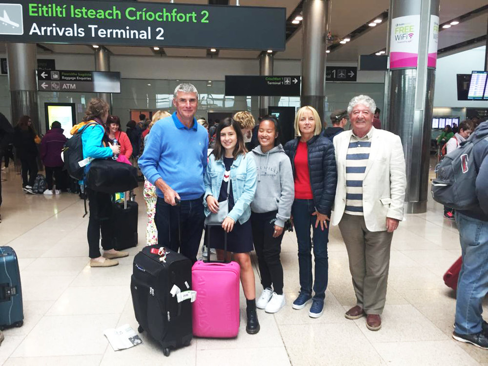 Students Meet Host Family at Dublin Airport