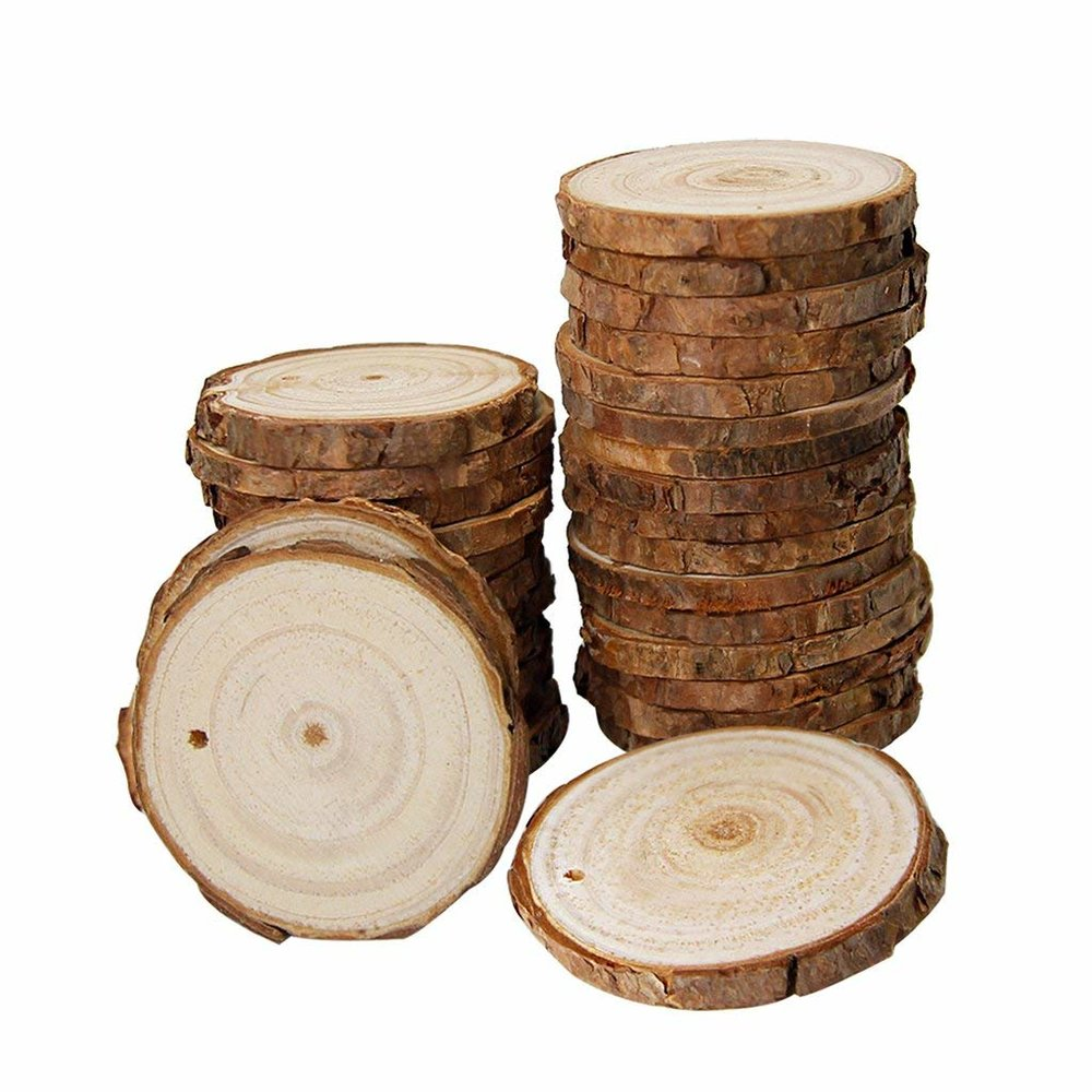 NATURAL WOOD CRAFT DISCS